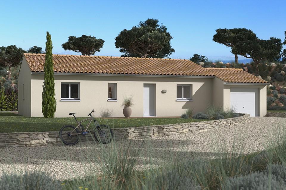 Maisons + Terrains du constructeur MAISONS FRANCE CONFORT • 73 m² • PUJAUDRAN