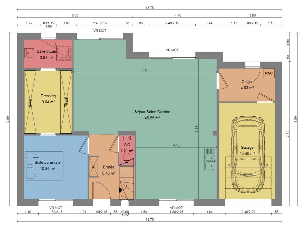 Maisons du constructeur LES MAISONS BARBEY MAILLARD • 145 m² • JOSSIGNY
