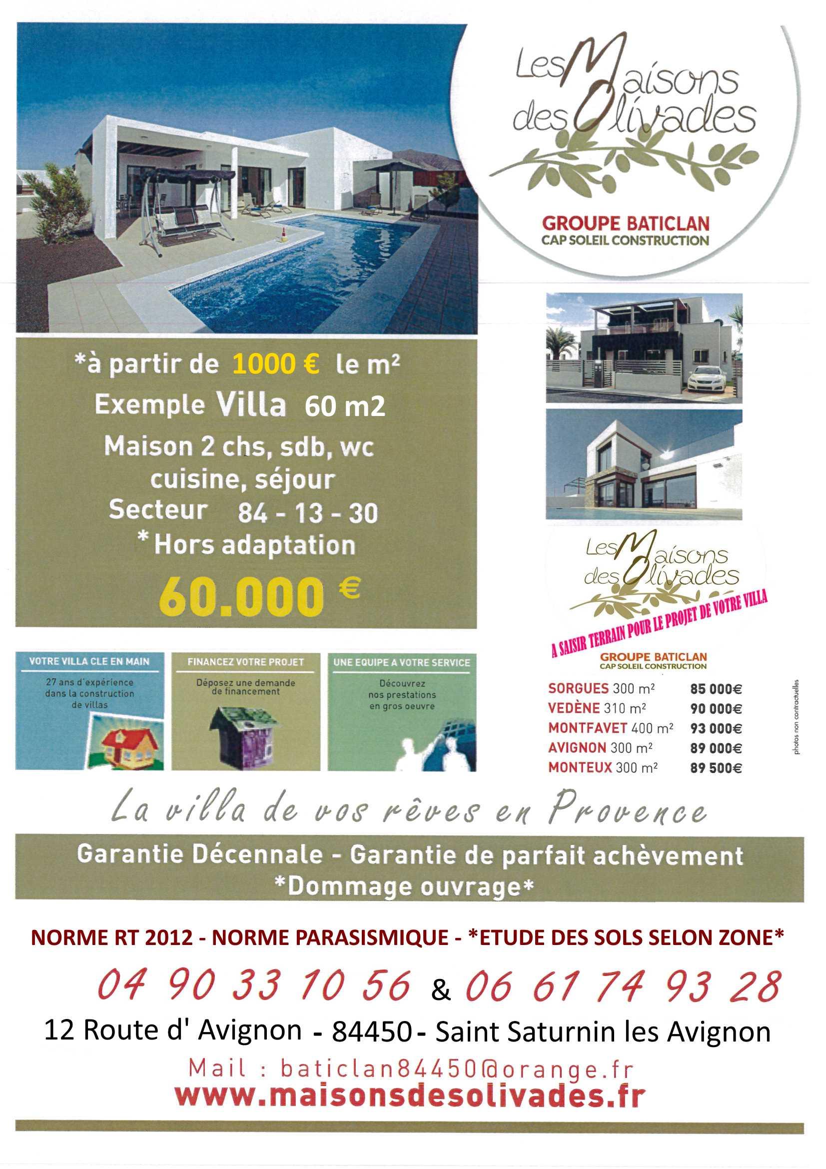 Terrains du constructeur MAISONS OLIVADES • 400 m² • VEDENE