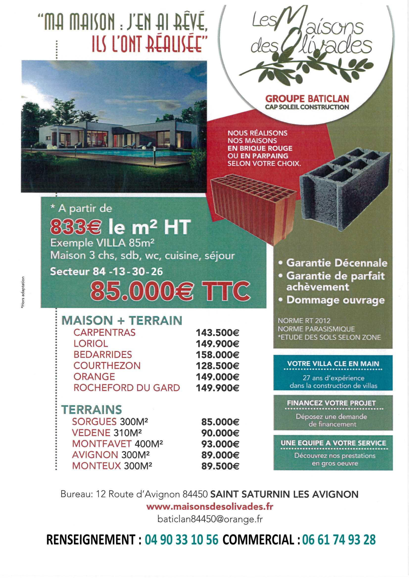 Terrains du constructeur MAISONS OLIVADES • 270 m² • AVIGNON