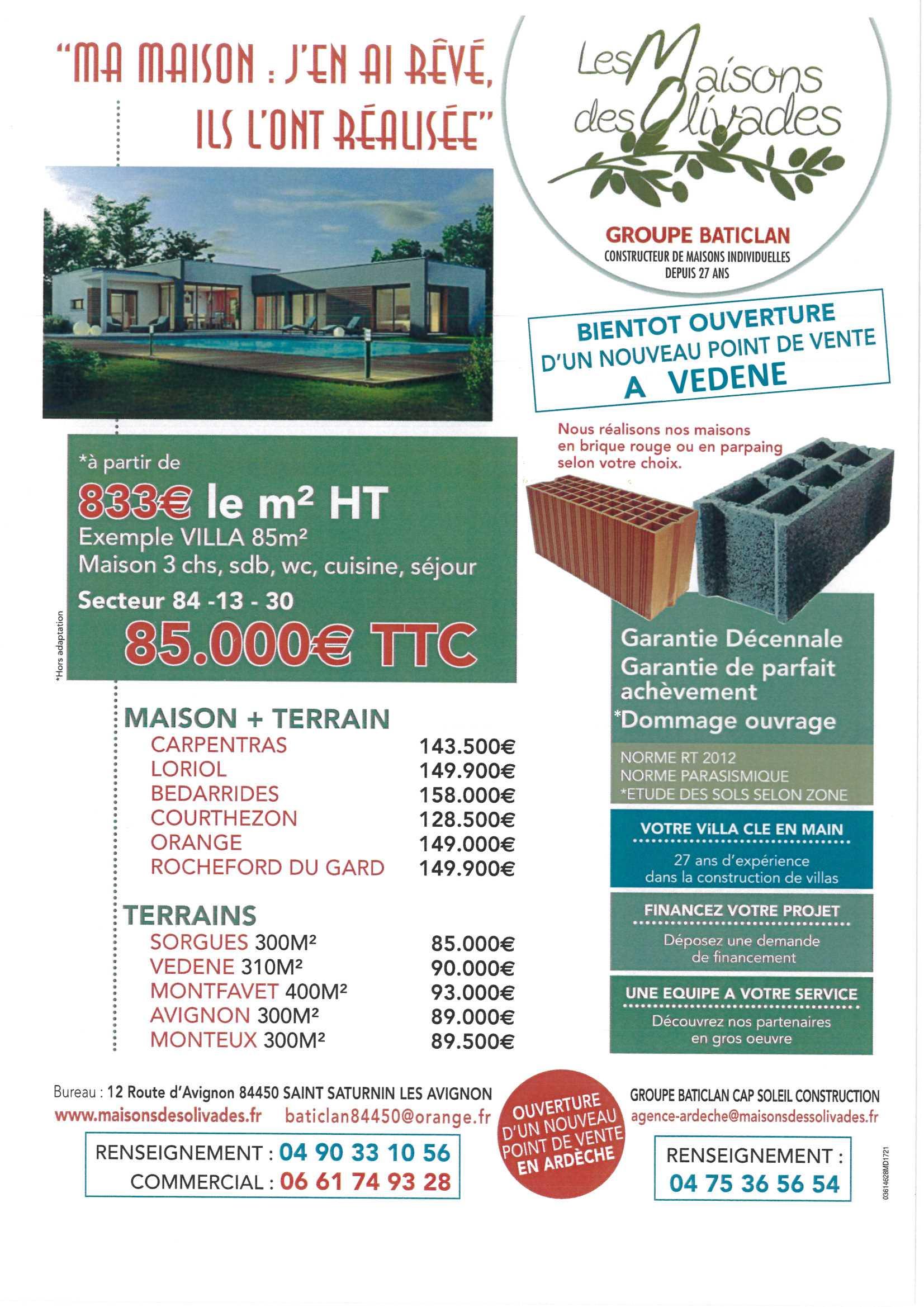 Terrains du constructeur MAISONS OLIVADES • 300 m² • CARPENTRAS
