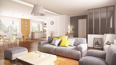 Maisons + Terrains du constructeur MAISON FAMILIALE MANTES • 84 m² • PORCHEVILLE