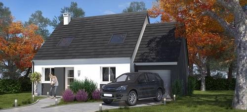 Maisons + Terrains du constructeur LES MAISONS.COM MAREUIL LES MEAUX • 83 m² • LES CHAPELLES BOURBON