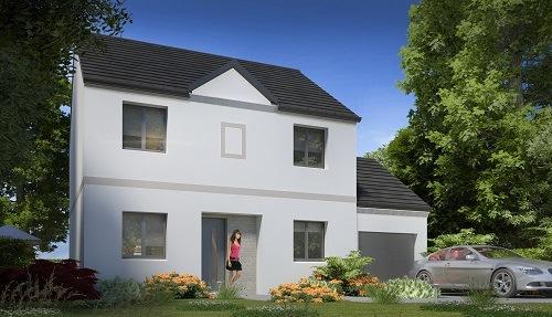 Maisons + Terrains du constructeur LES MAISONS.COM MAREUIL LES MEAUX • 103 m² • TRILBARDOU