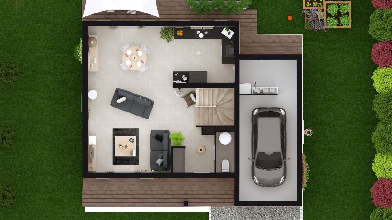 Maisons + Terrains du constructeur MAISONS LOGELIS • 79 m² • PUY SAINT MARTIN