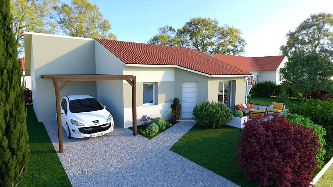 Maisons + Terrains du constructeur MAISONS D EN FRANCE - MONISTROL SUR LOIRE • 80 m² • ROSIERES