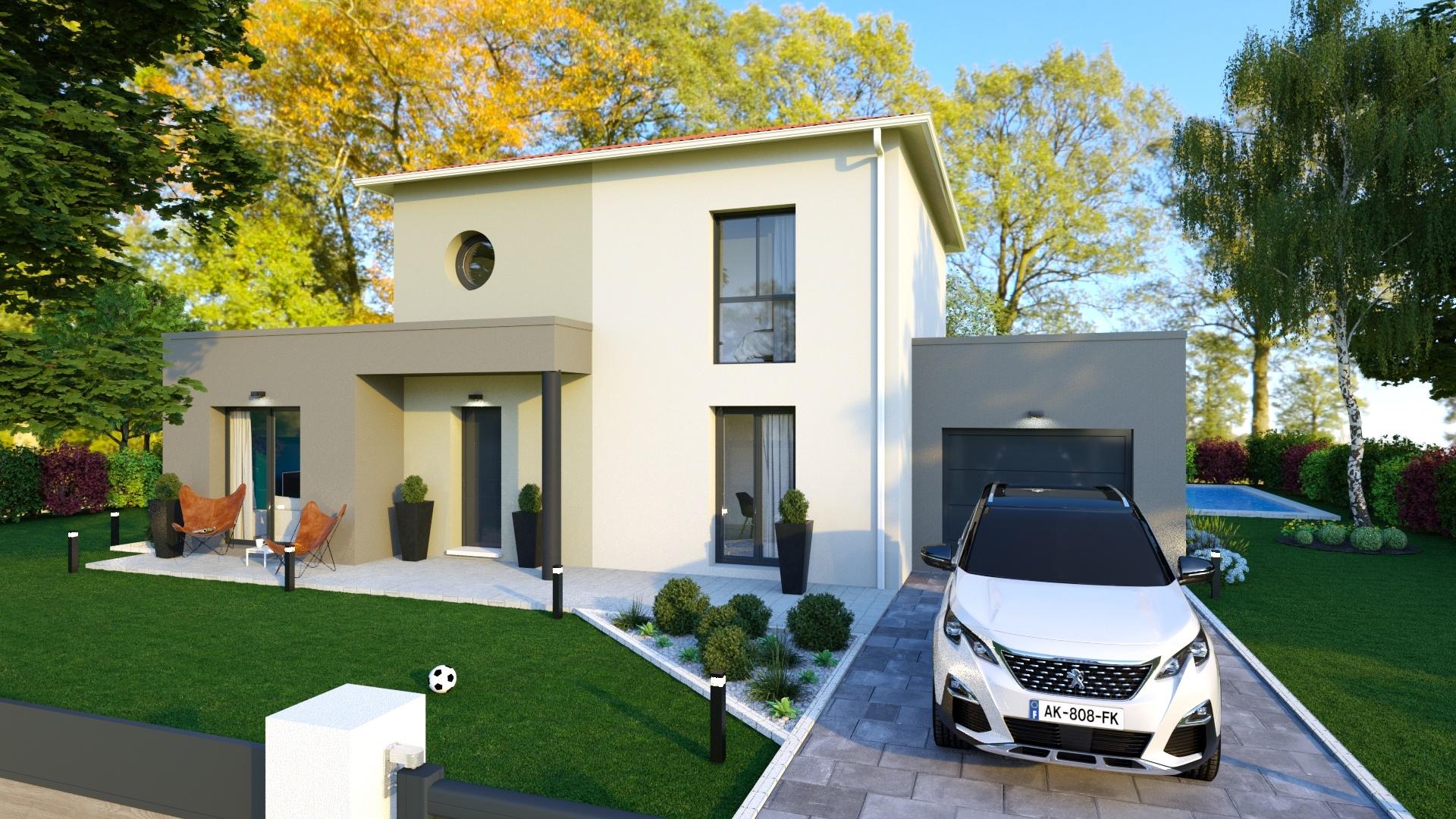 Maisons + Terrains du constructeur MAISONS D EN FRANCE - MONISTROL SUR LOIRE • 100 m² • ROSIERES