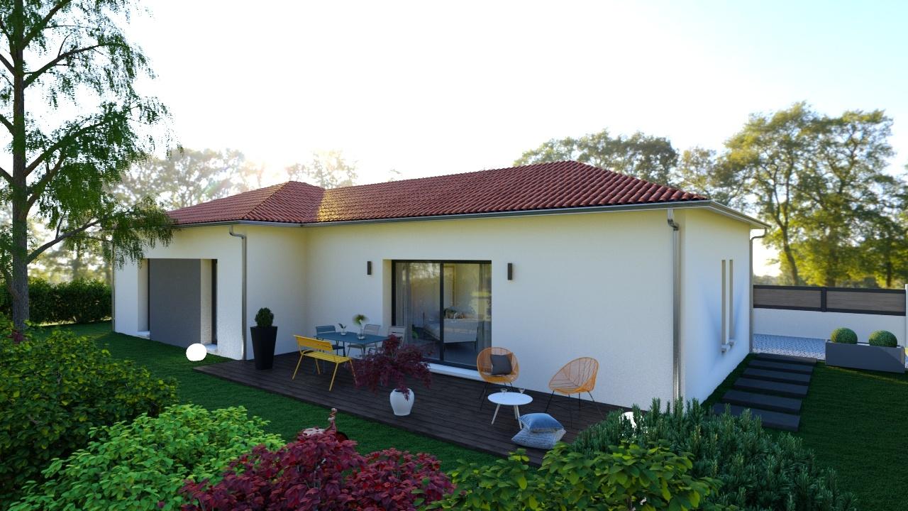 Maisons + Terrains du constructeur MAISONS D EN FRANCE - MONISTROL SUR LOIRE • 90 m² • BRIVES CHARENSAC