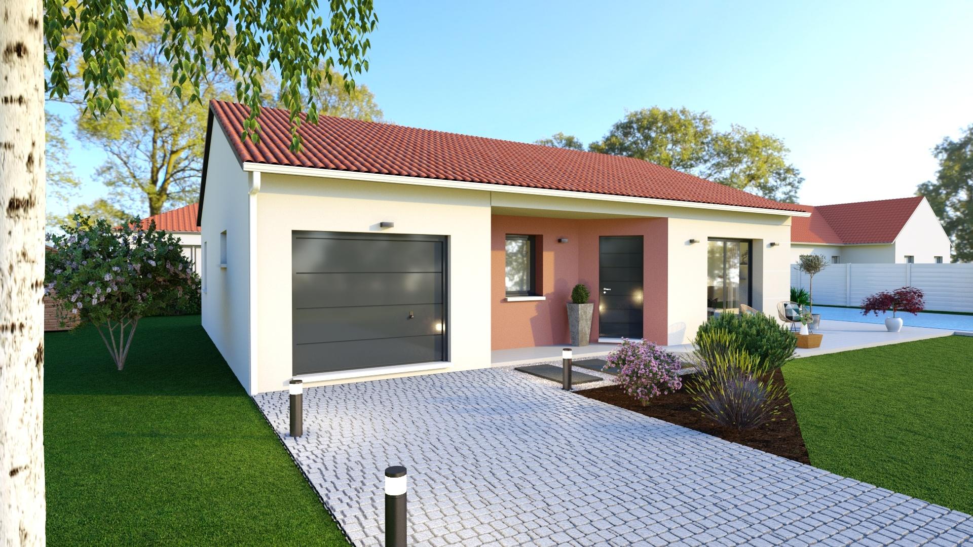 Maisons + Terrains du constructeur MAISONS D EN FRANCE - MONISTROL SUR LOIRE • 80 m² • BEAULIEU
