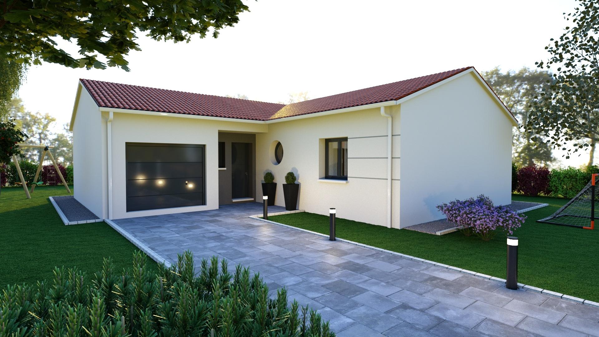 Maisons + Terrains du constructeur MAISONS D EN FRANCE - MONISTROL SUR LOIRE • 90 m² • CAYRES