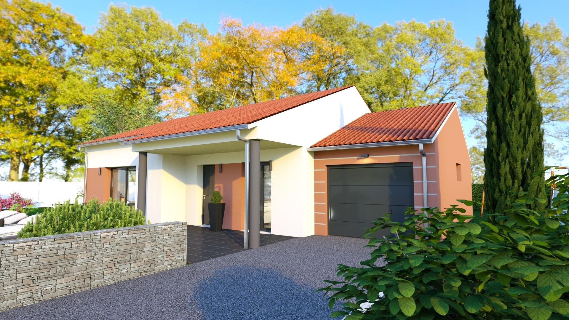 Maisons + Terrains du constructeur MAISONS D EN FRANCE - MONISTROL SUR LOIRE • 90 m² • BEAULIEU