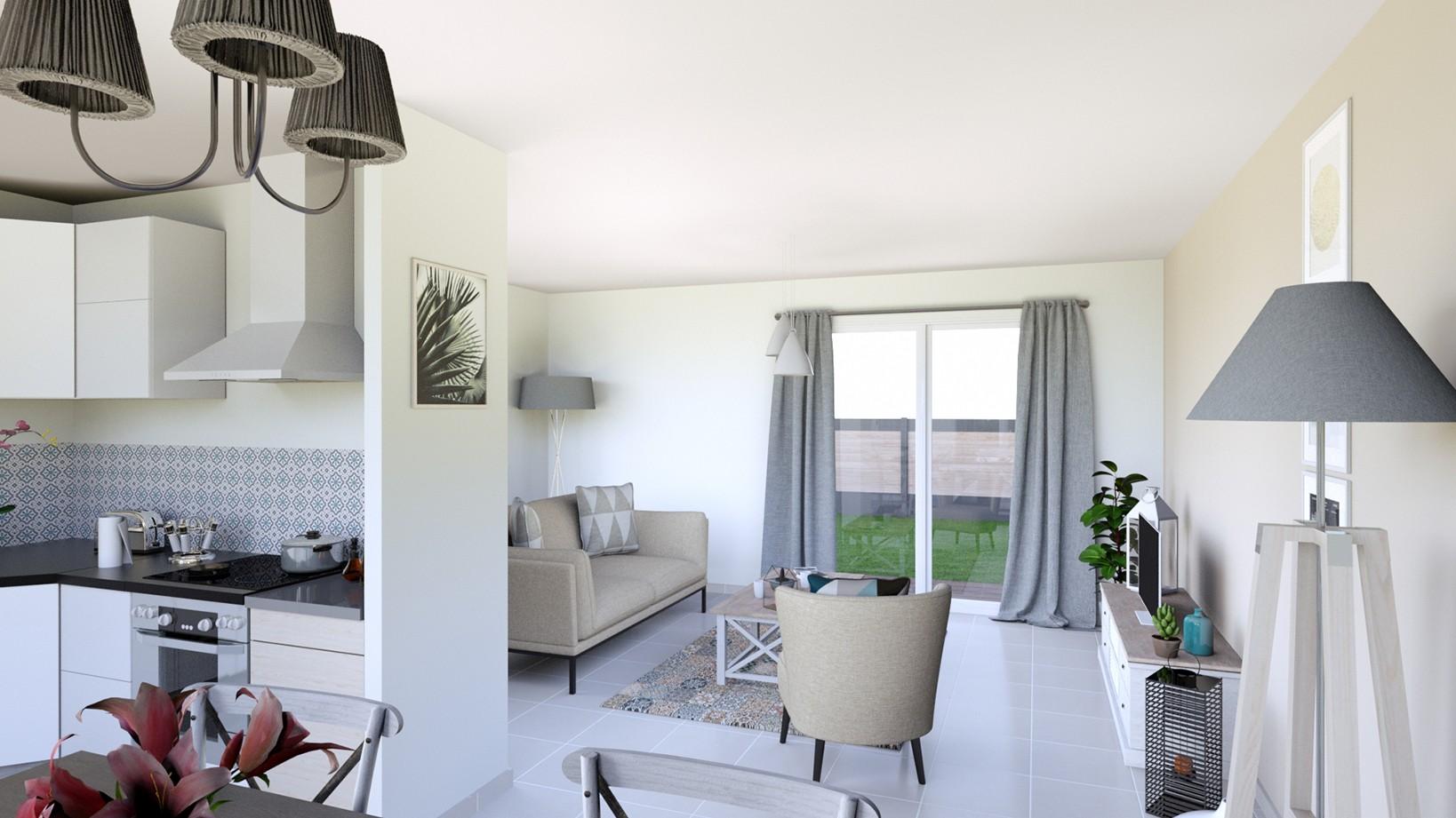 Maisons + Terrains du constructeur MAISONS D EN FRANCE - MONISTROL SUR LOIRE • 90 m² • SAINT MAURICE DE LIGNON