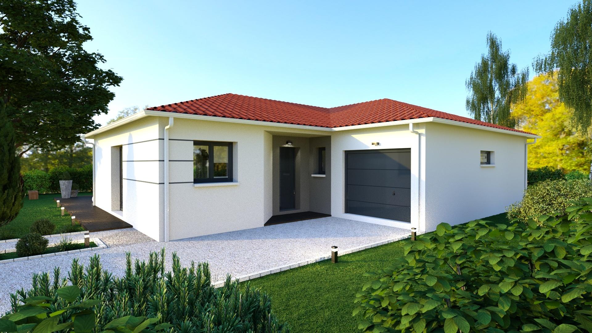 Maisons + Terrains du constructeur MAISONS D EN FRANCE - MONISTROL SUR LOIRE • 90 m² • BLAVOZY
