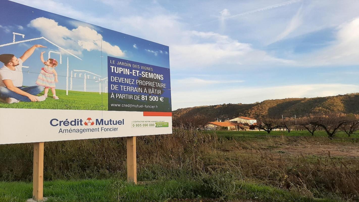 Terrains du constructeur CREDIT MUTUEL AMENAGEMENT FONCIER LYON • 555 m² • TUPIN ET SEMONS