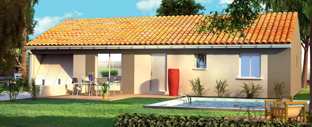 Maisons + Terrains du constructeur LEADER HABITAT • 90 m² • CABANAC ET VILLAGRAINS