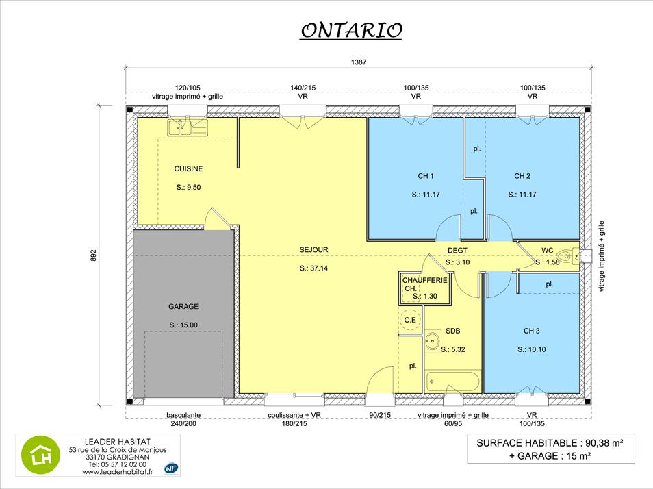 Maisons + Terrains du constructeur LEADER HABITAT • 90 m² • LE PIAN MEDOC