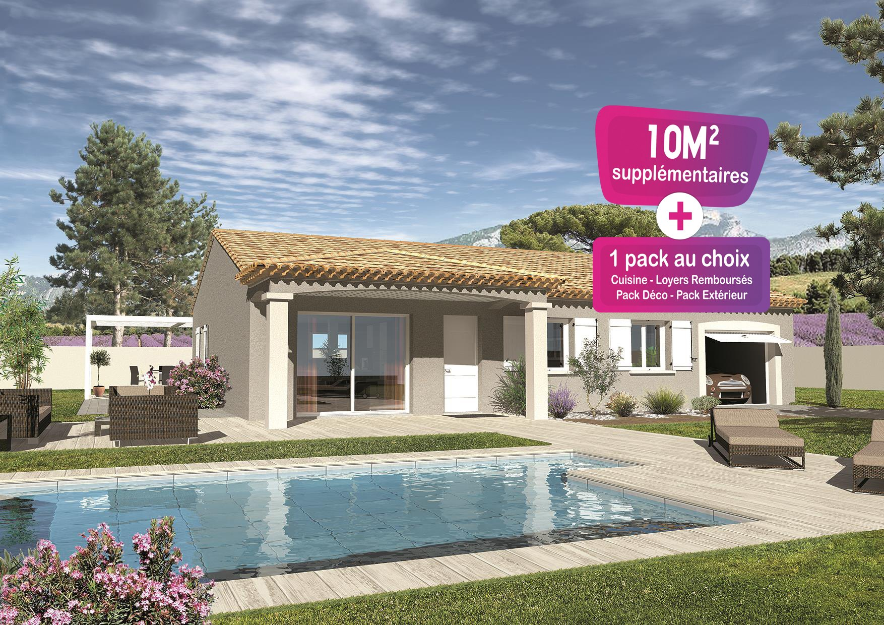 Maisons + Terrains du constructeur MAISONS PUNCH • 89 m² • MORMOIRON