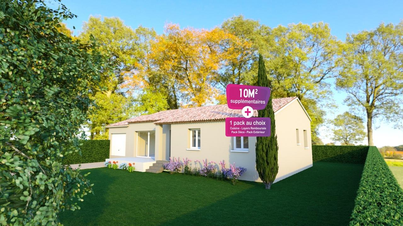 Maisons + Terrains du constructeur MAISONS PUNCH • 83 m² • CAMARET SUR AIGUES