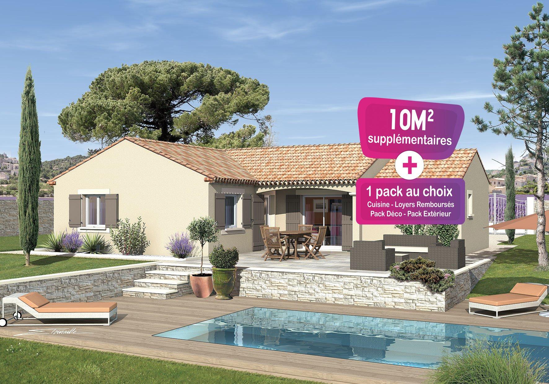 Maisons + Terrains du constructeur MAISONS PUNCH • 83 m² • LAUDUN