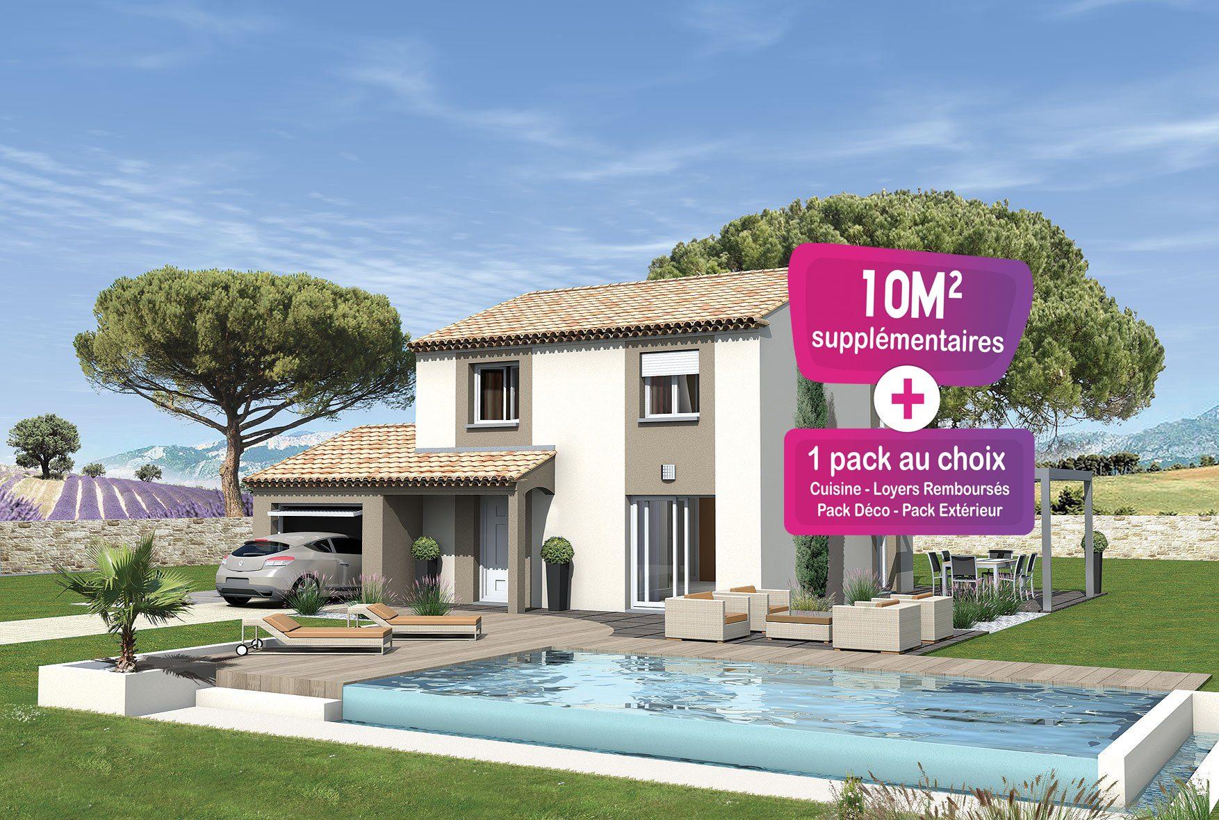 Maisons + Terrains du constructeur MAISONS PUNCH • 94 m² • SAINT PAUL TROIS CHATEAUX
