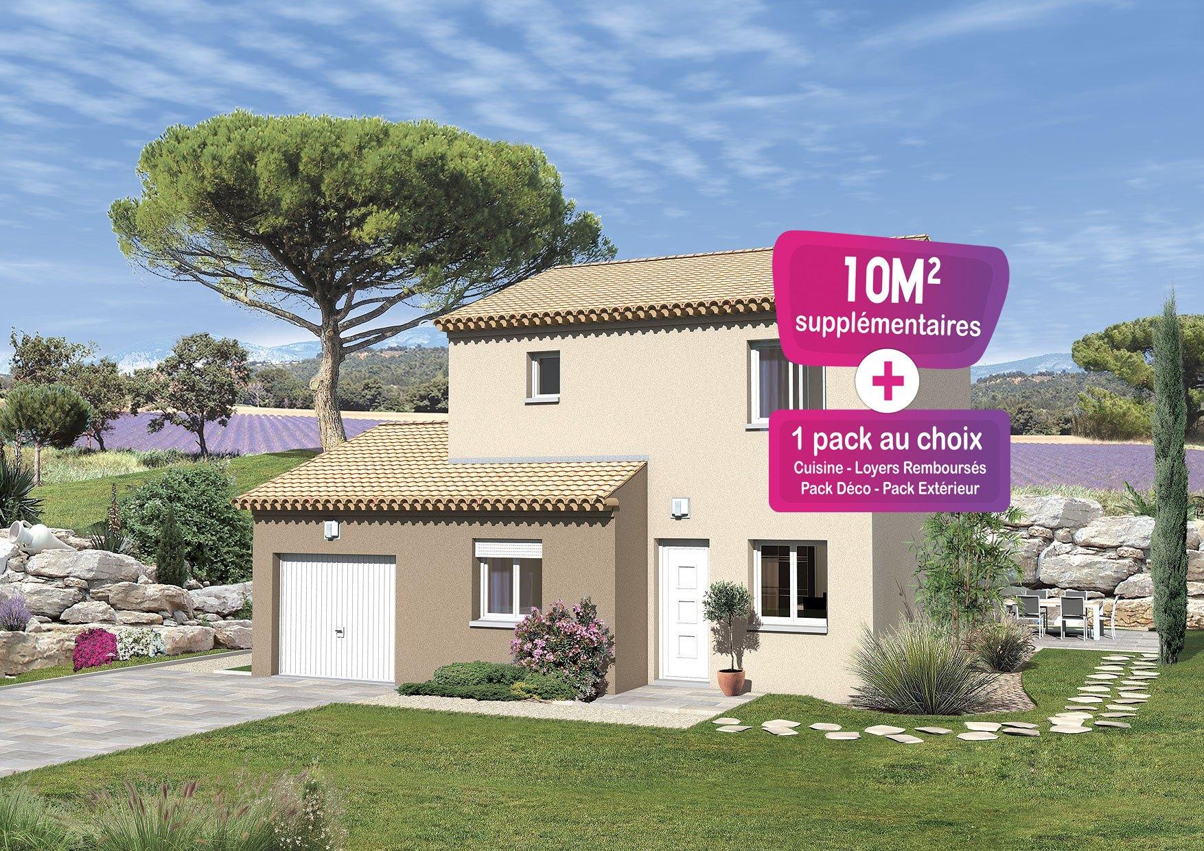 Maisons + Terrains du constructeur MAISONS PUNCH • 91 m² • SAINT PAUL TROIS CHATEAUX