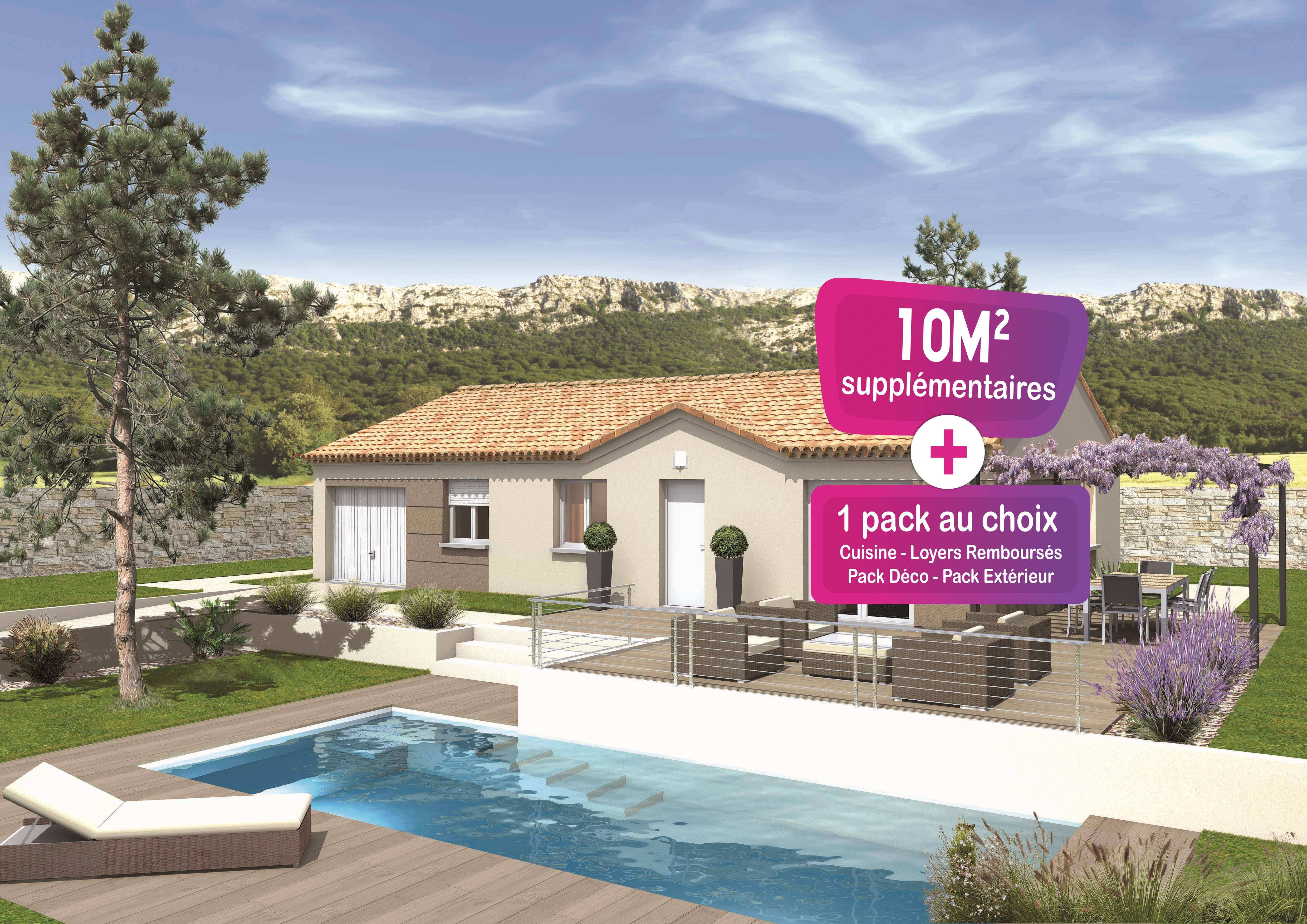 Maisons + Terrains du constructeur MAISONS PUNCH • 85 m² • LAUDUN