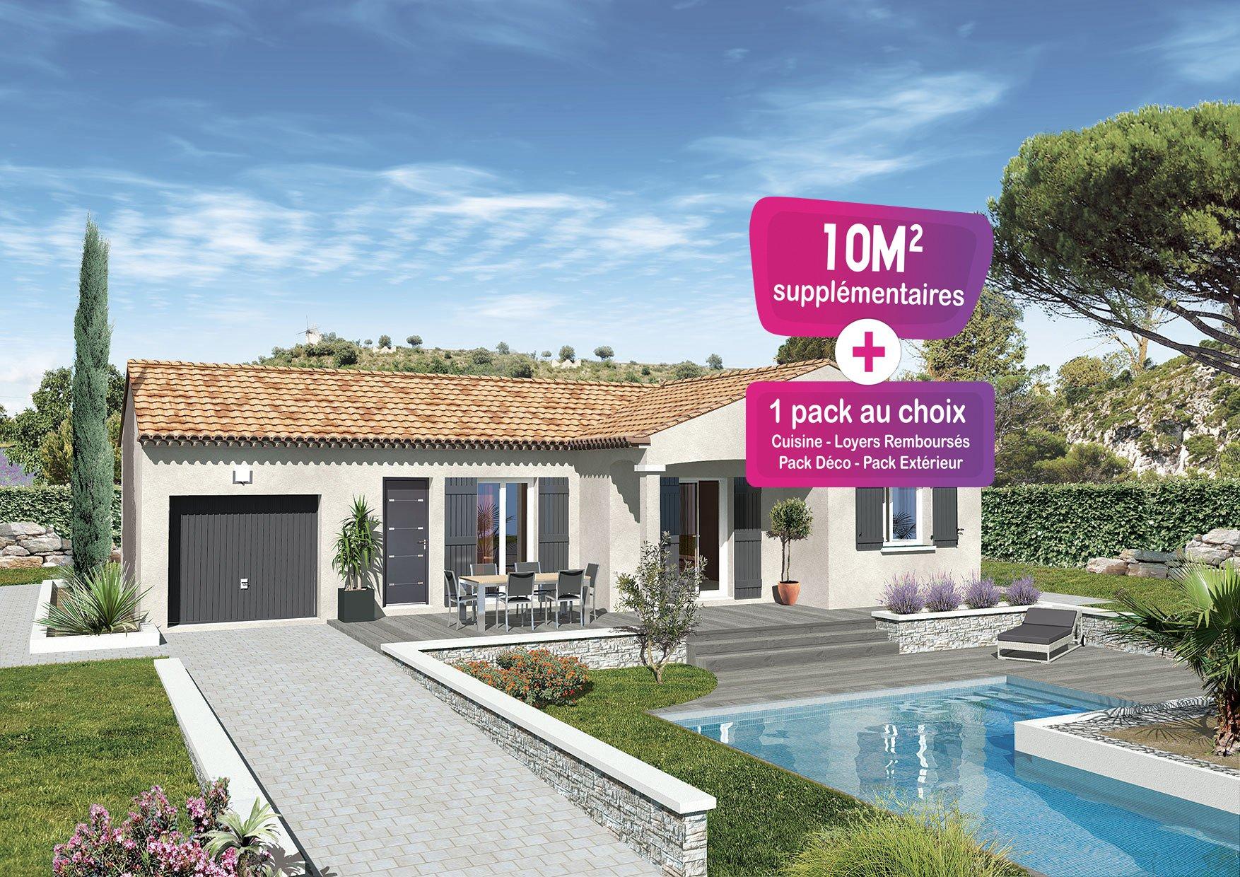 Maisons + Terrains du constructeur MAISONS PUNCH • 83 m² • ROQUEMAURE