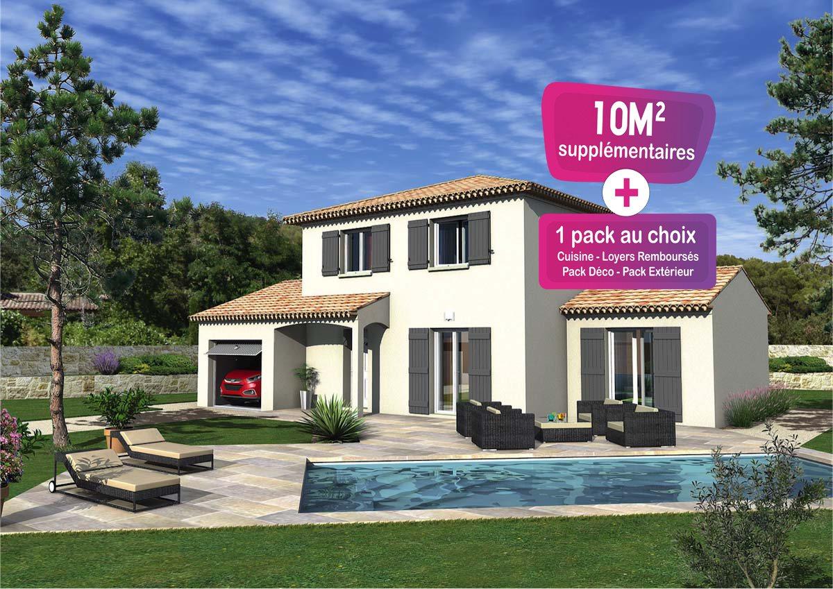 Maisons + Terrains du constructeur MAISONS PUNCH • 97 m² • BAGNOLS SUR CEZE