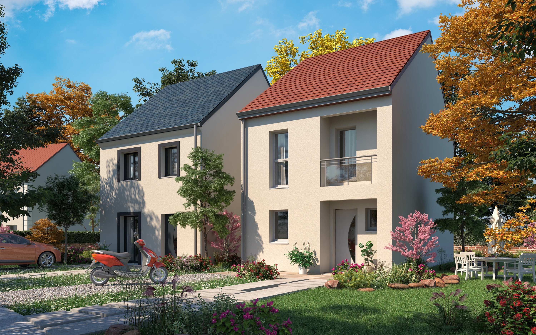 Maisons + Terrains du constructeur LES MAISONS.COM POISSY • 81 m² • MANTES LA JOLIE