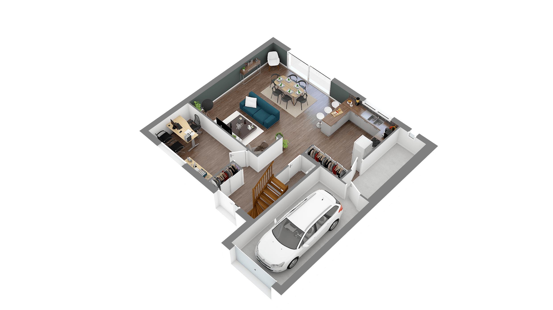 Maisons + Terrains du constructeur LES MAISONS.COM POISSY • 114 m² • EPONE