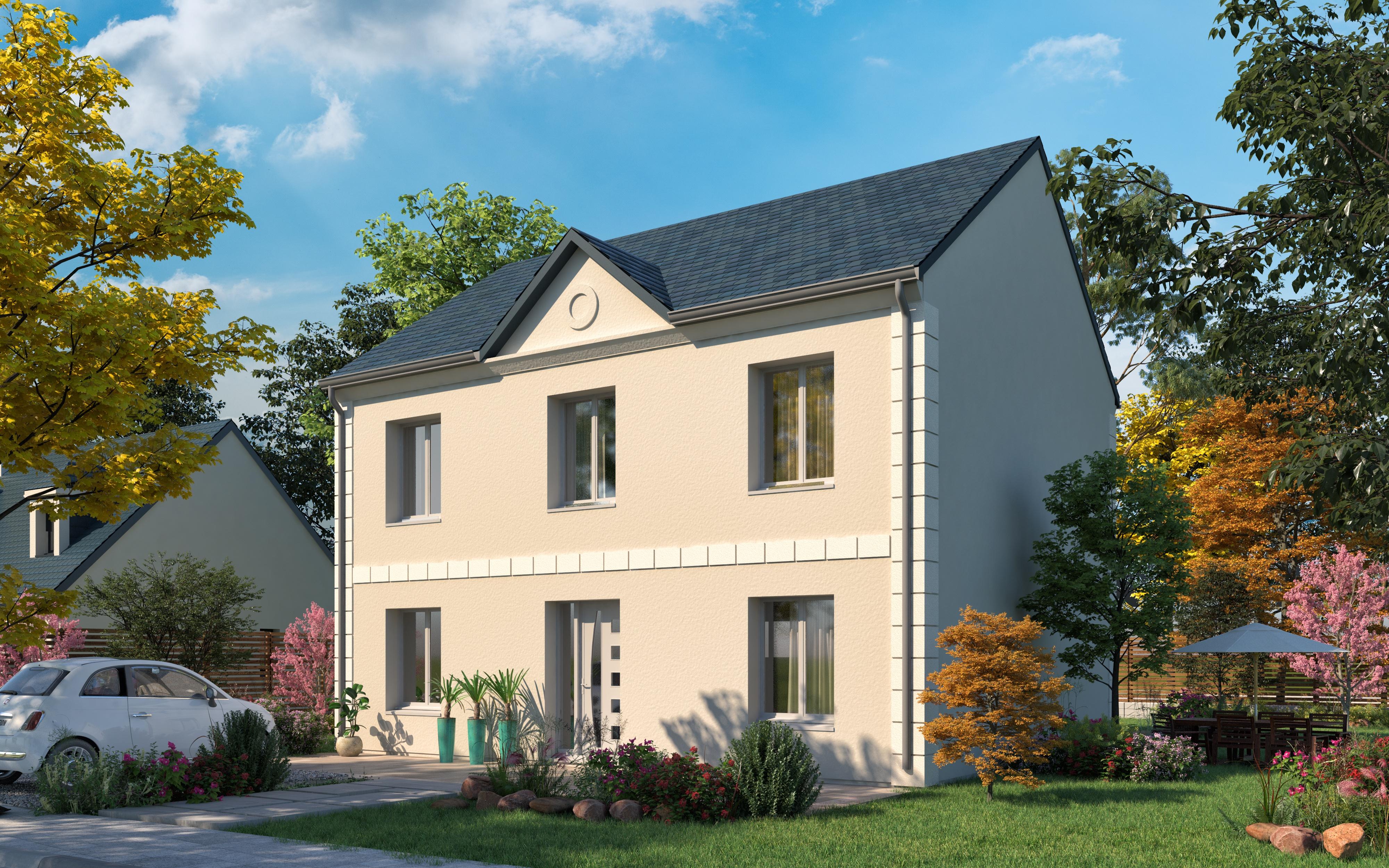 Maisons + Terrains du constructeur LES MAISONS.COM POISSY • 123 m² • LES MUREAUX
