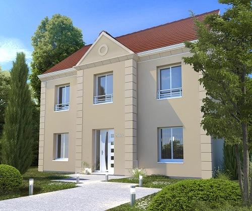 Maisons + Terrains du constructeur LES MAISONS.COM POISSY • 128 m² • CHAPET