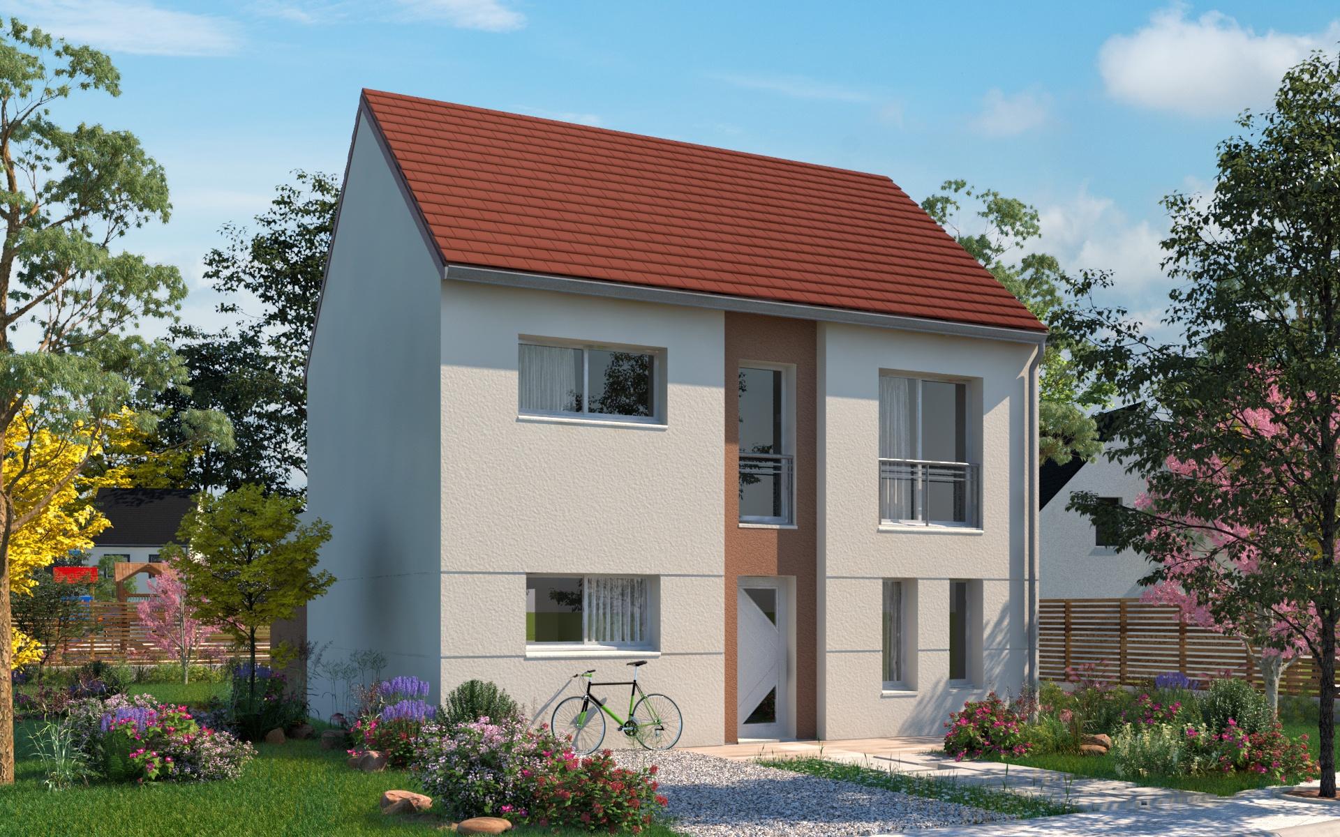 Maisons + Terrains du constructeur LES MAISONS.COM POISSY • 118 m² • MANTES LA JOLIE