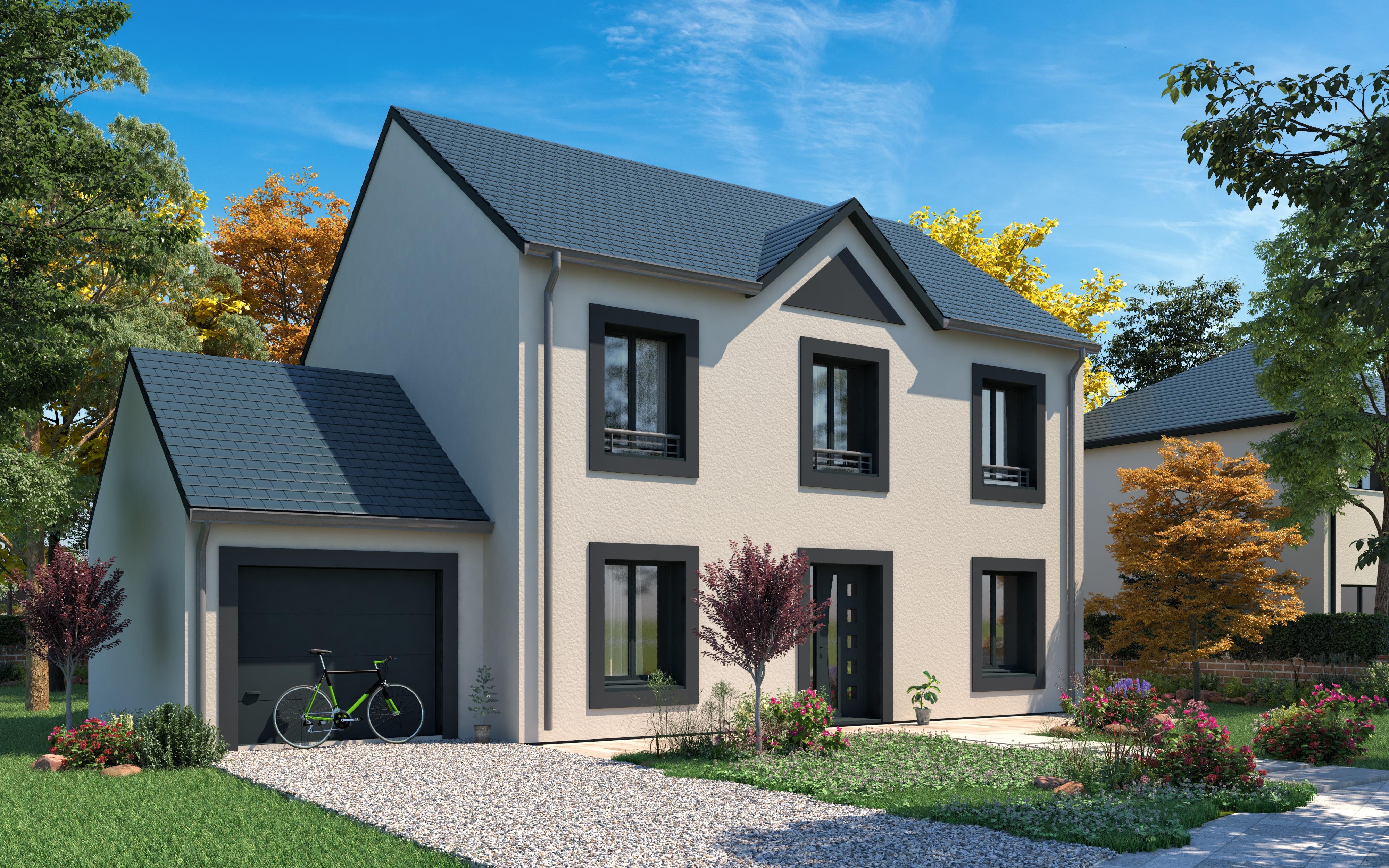 Maisons + Terrains du constructeur LES MAISONS.COM POISSY • 124 m² • CARRIERES SOUS POISSY
