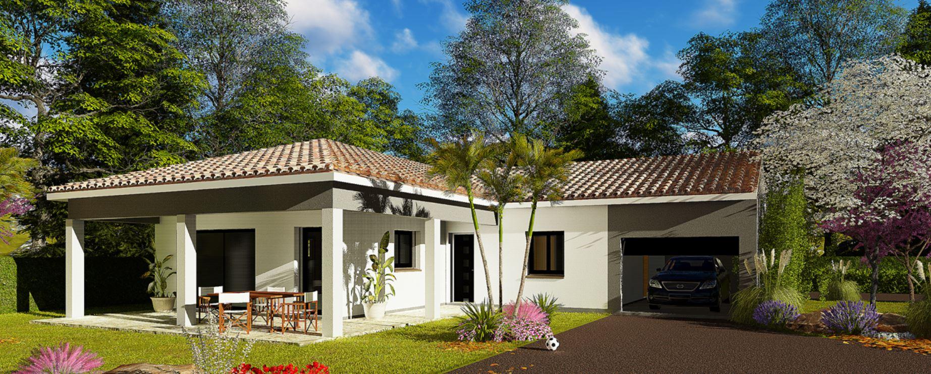 Maisons + Terrains du constructeur HABITAT SUD EST • 110 m² • SAINT SYMPHORIEN SOUS CHOMERAC
