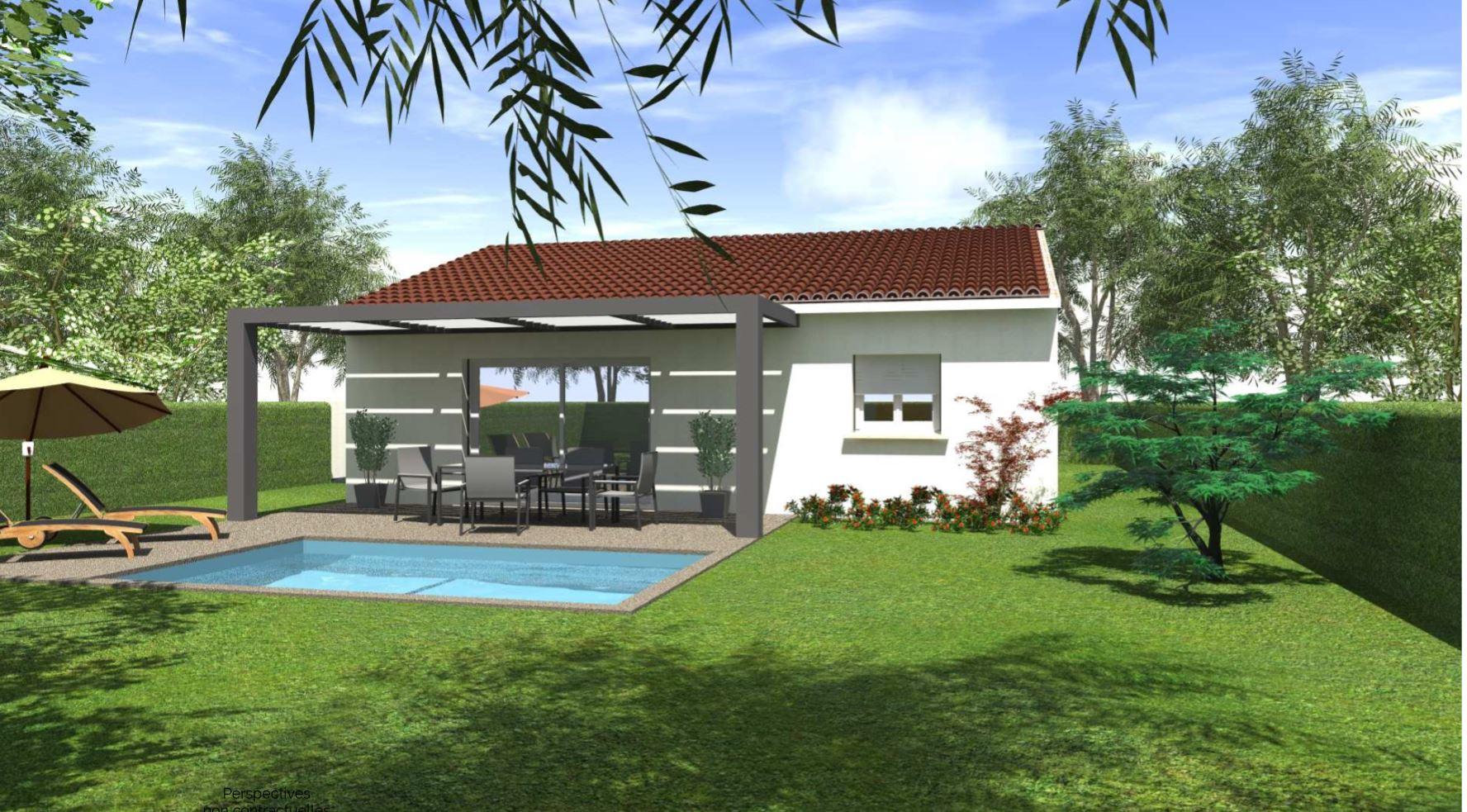 Maisons + Terrains du constructeur HABITAT SUD EST • 80 m² • LES TOURRETTES