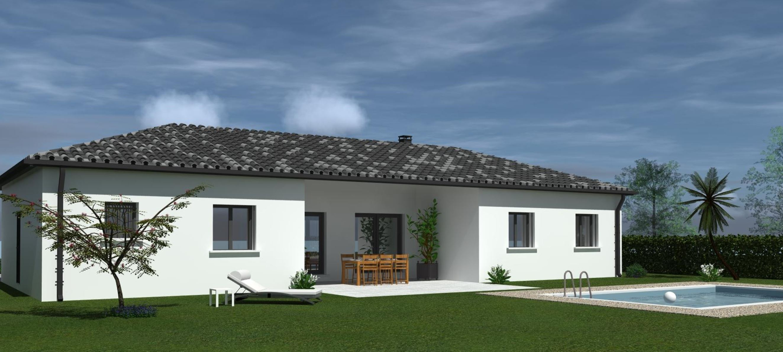 Maisons + Terrains du constructeur HABITAT SUD EST • 100 m² • CHOMERAC