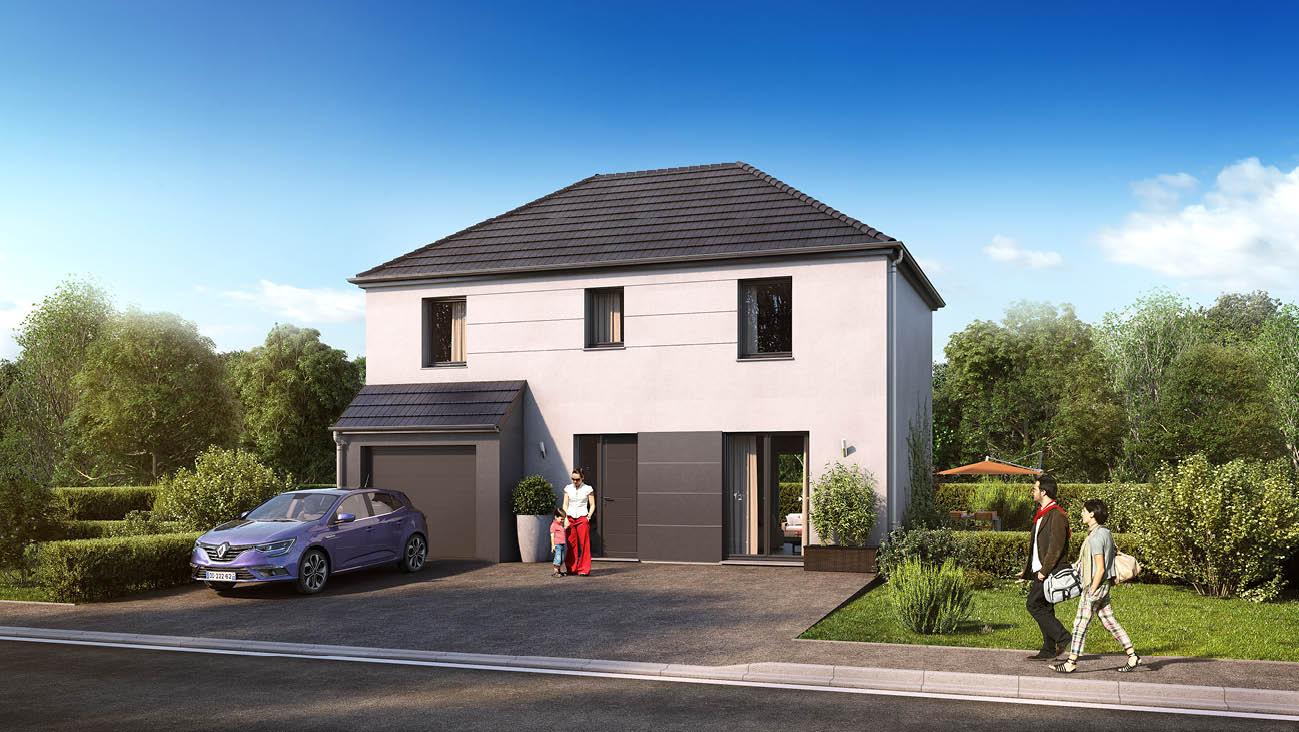 Maisons + Terrains du constructeur MAISON FAMILIALE • 102 m² • HONDEVILLIERS
