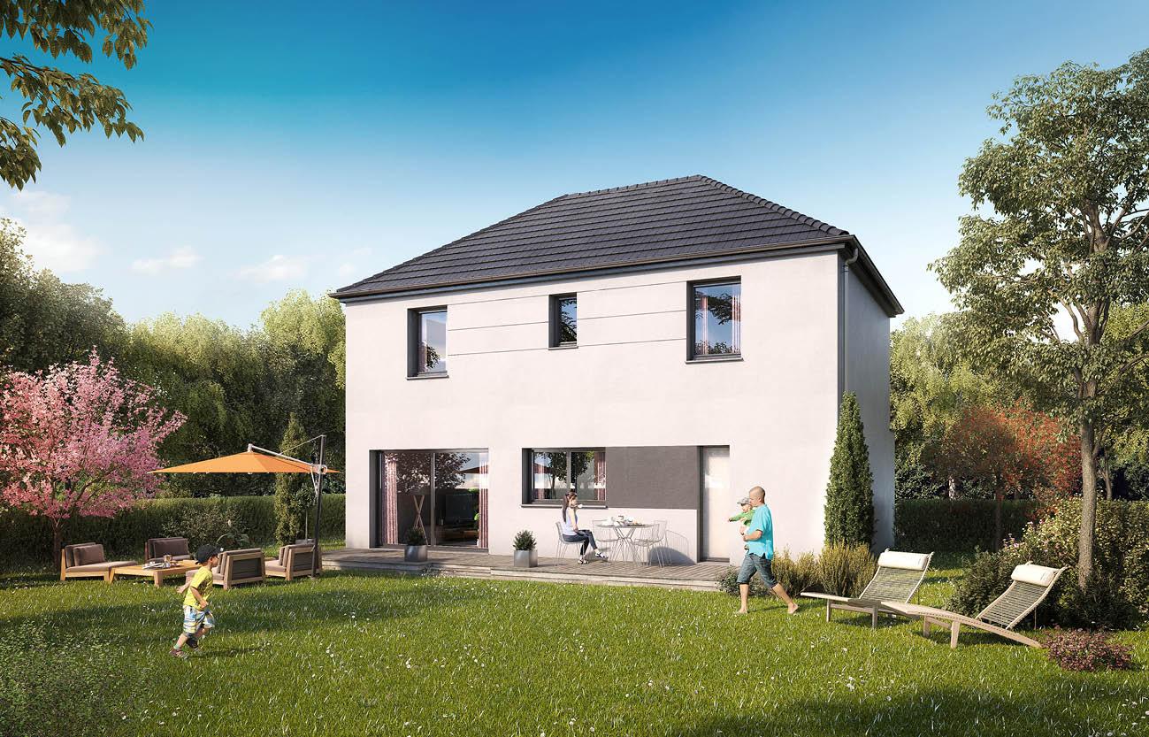 Maisons + Terrains du constructeur MAISON FAMILIALE • 102 m² • CHAMIGNY