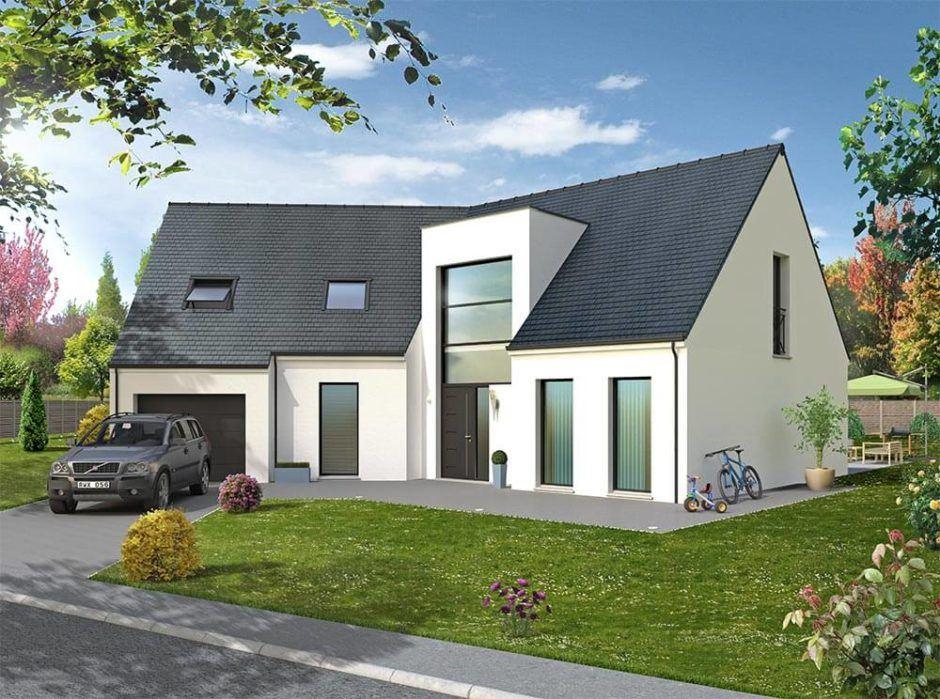 Maisons + Terrains du constructeur MAISON D'EN FRANCE HAUTE NORMANDIE • 174 m² • SAINT AUBIN SUR GAILLON