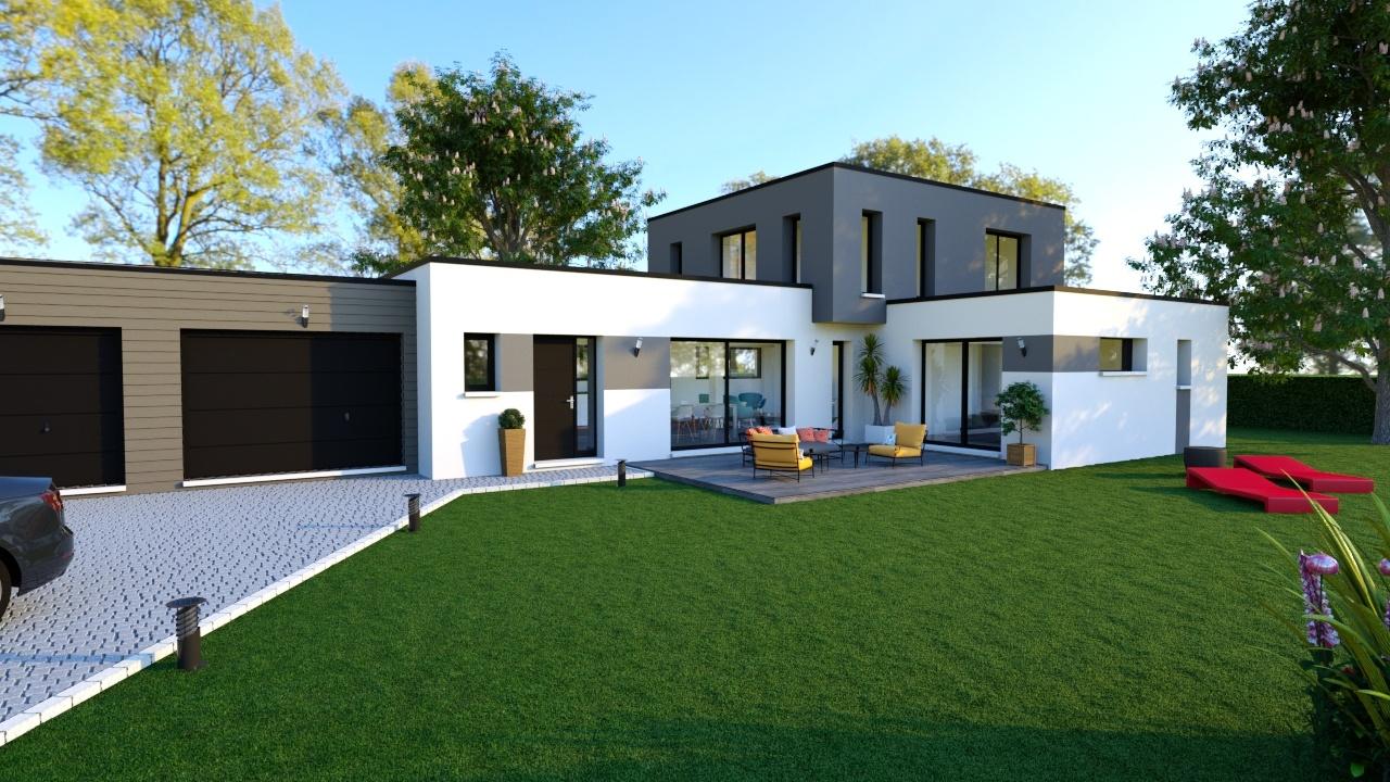 Maisons + Terrains du constructeur MAISON D'EN FRANCE HAUTE NORMANDIE • 159 m² • LE THUIT SIGNOL