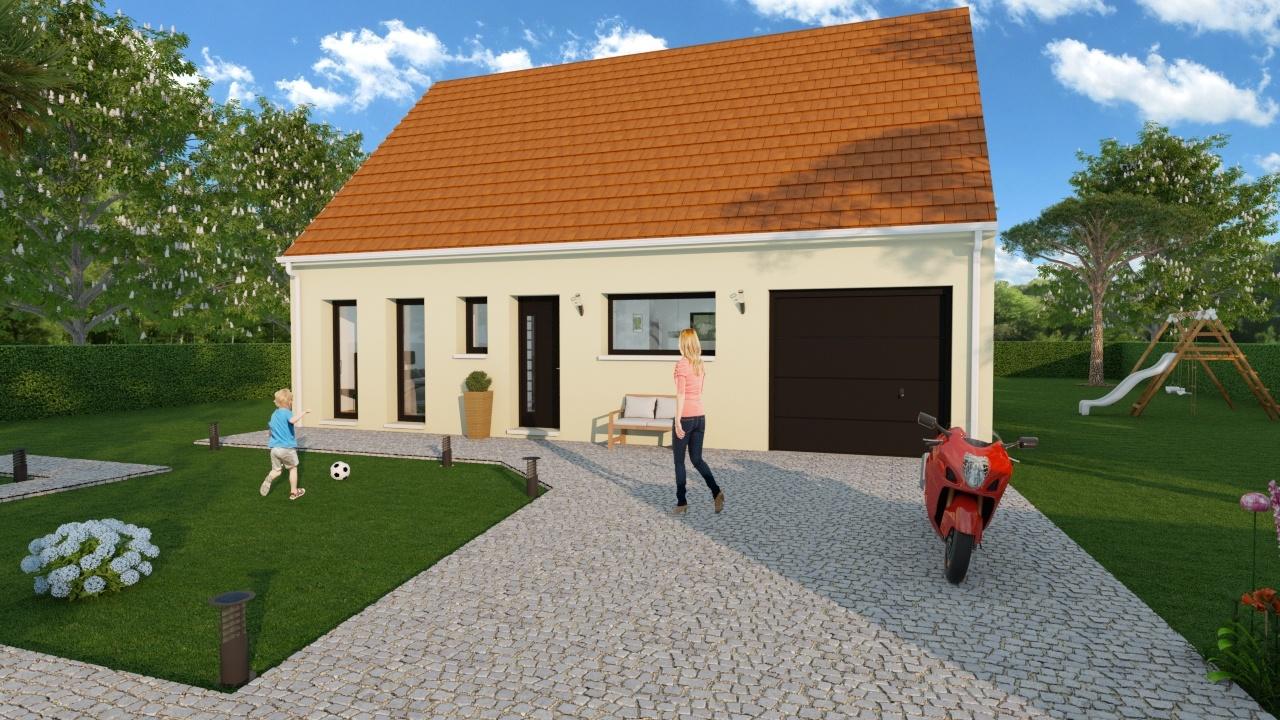 Maisons + Terrains du constructeur MAISON D'EN FRANCE HAUTE NORMANDIE • 70 m² • GISORS