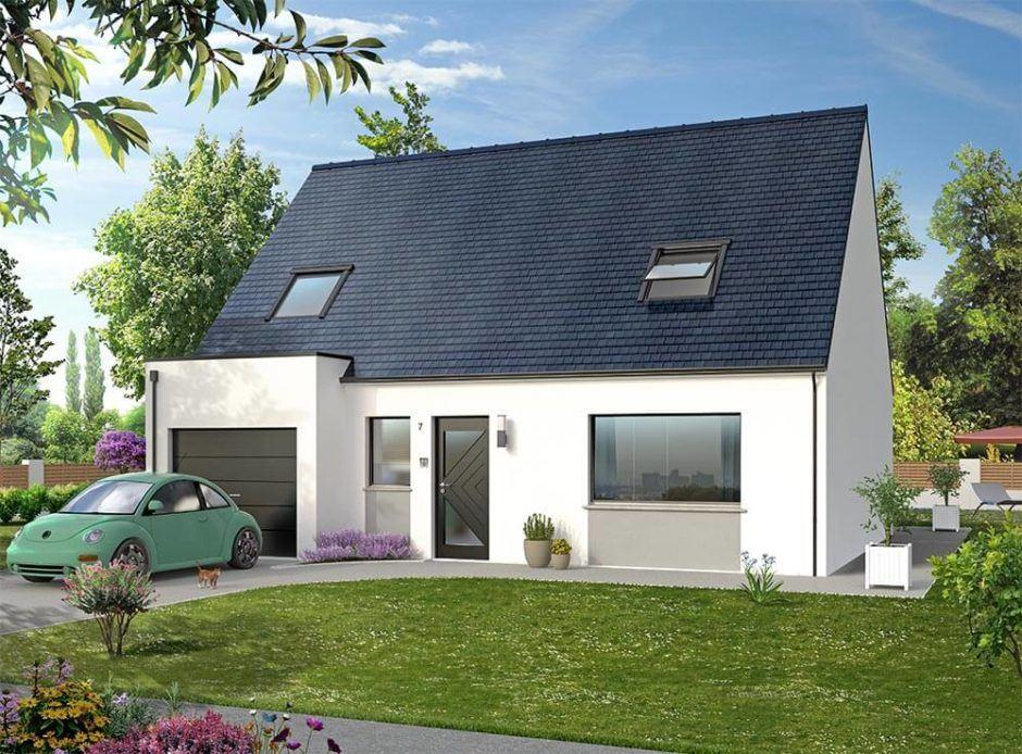 Maisons + Terrains du constructeur MAISON D'EN FRANCE HAUTE NORMANDIE • 106 m² • HONDOUVILLE