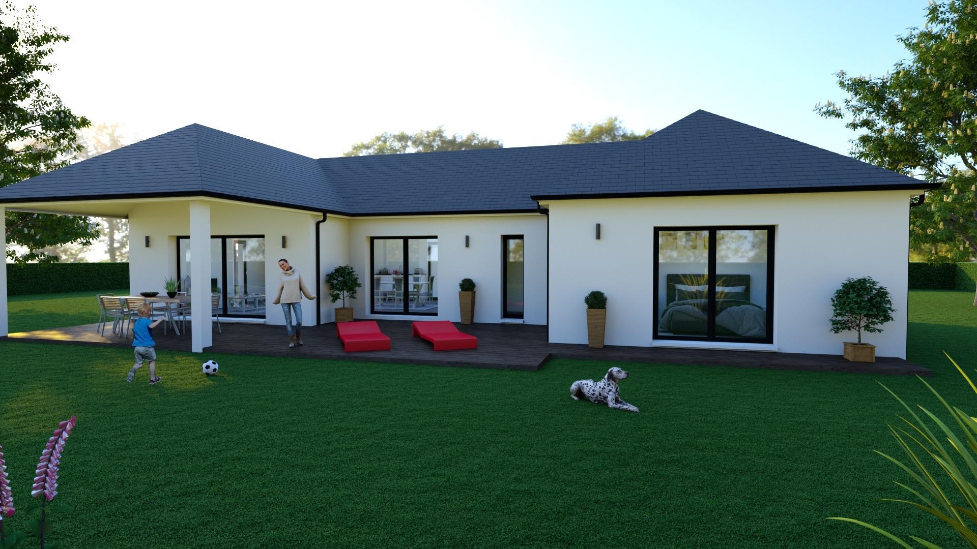 Maisons + Terrains du constructeur MAISON D'EN FRANCE HAUTE NORMANDIE • 107 m² • MARTAINVILLE EPREVILLE