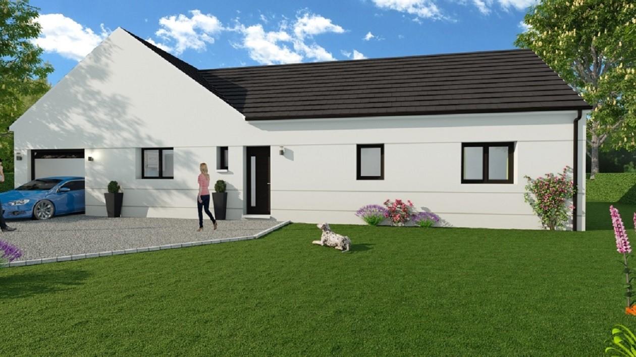 Maisons + Terrains du constructeur MAISON D'EN FRANCE HAUTE NORMANDIE • 130 m² • TOURVILLE LA CAMPAGNE