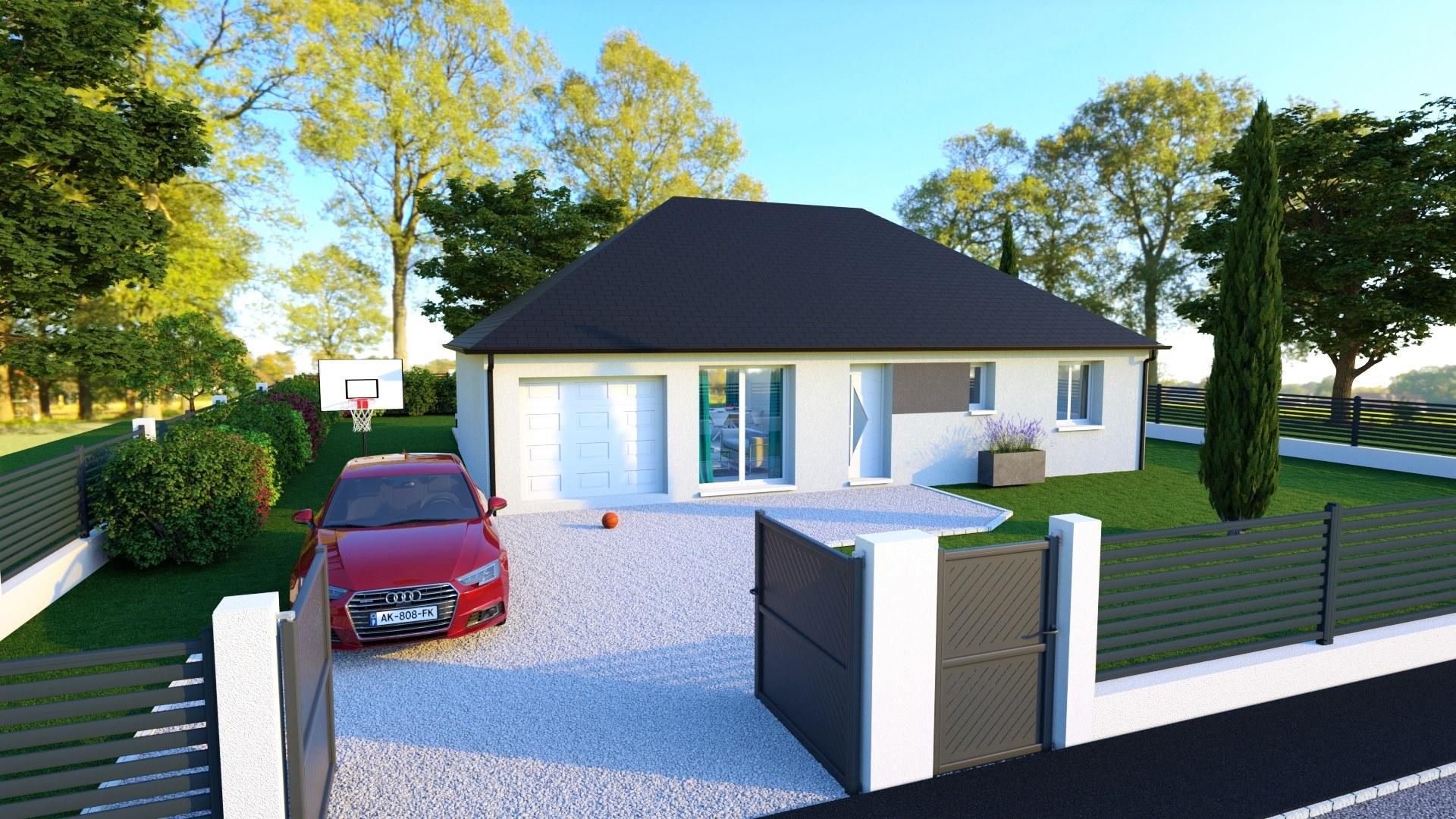 Maisons + Terrains du constructeur MAISON D'EN FRANCE HAUTE NORMANDIE • 81 m² • TOUFFREVILLE LA CABLE