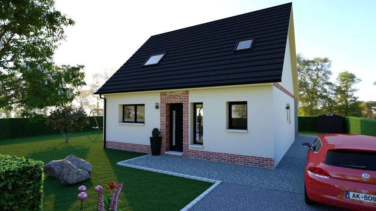 Maisons + Terrains du constructeur MAISON D'EN FRANCE HAUTE NORMANDIE • 120 m² • PACY SUR EURE