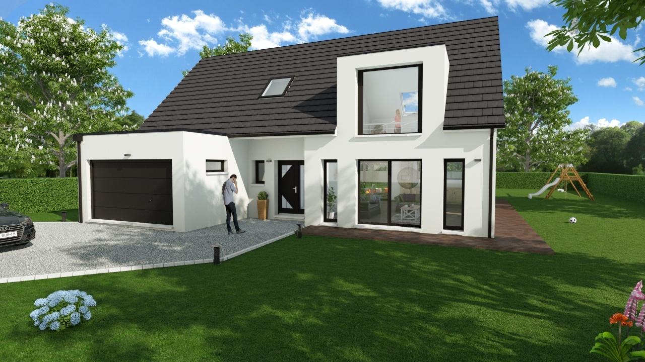 Maisons + Terrains du constructeur MAISON D'EN FRANCE HAUTE NORMANDIE • 158 m² • MANTES LA JOLIE