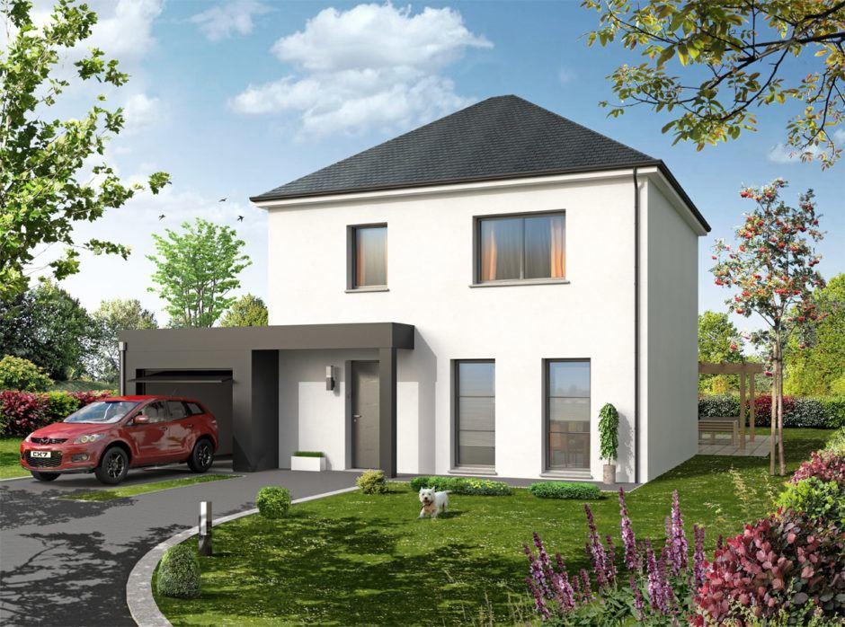 Maisons + Terrains du constructeur MAISONS D EN FRANCE SEINE MARITIME • 90 m² • EVREUX