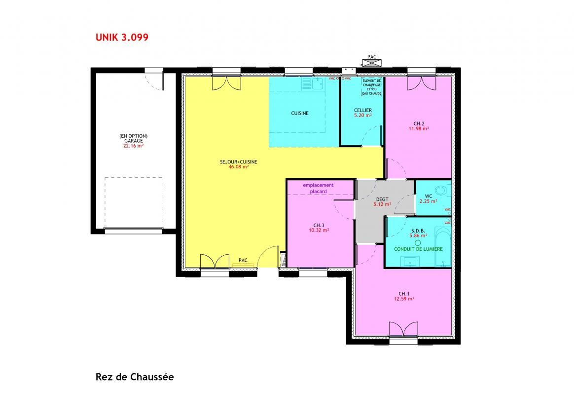 Maisons du constructeur MAISONS PIERRE - PESSAC • 99 m² • CENON